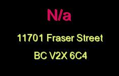 N/a 11701 FRASER V2X 6C4