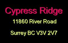 Cypress Ridge 11860 RIVER V3V 2V7
