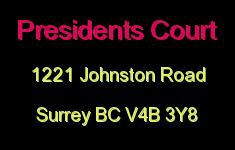 Presidents Court 1221 JOHNSTON V4B 3Y8