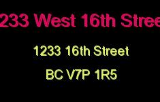 1233 West 16th Street 1233 16TH V7P 1R5