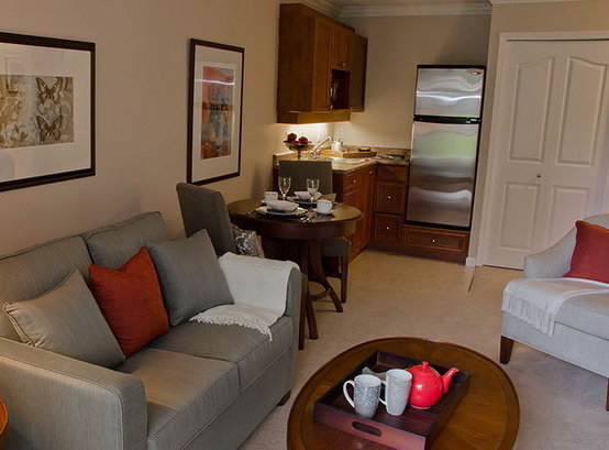 Typical Suite Living Room Dining Room!