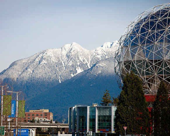 Opsal View of Science World And Mountains!