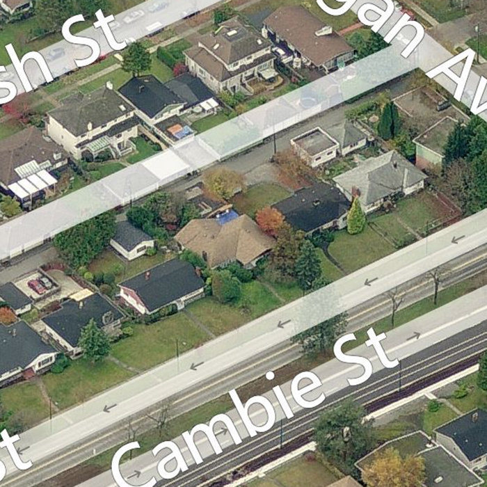 4977 Cambie Street, Vancouver, BC V5Z 2Z6, Canada Birds Eye!