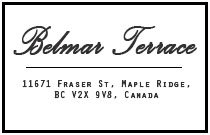 Belmar Terrace 11671 FRASER V2X 6C4