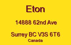 Eton 14888 62ND V3S 6T6