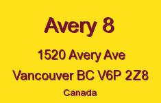 Avery 8 1520 AVERY V6P 2Z8