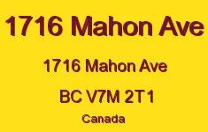 1716 Mahon Ave 1716 MAHON V7M 2T1