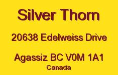 Silver Thorn 20638 EDELWEISS V0M 1A1