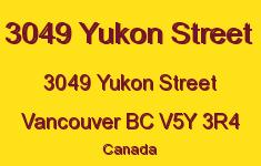 3049 Yukon Street 3049 YUKON V5Y 3R4