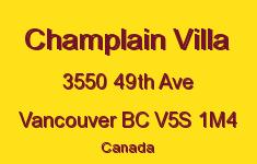 Champlain Villa 3550 49TH V5S 1M4