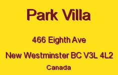 Park Villa 466 EIGHTH V3L 4L2