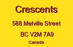 Crescents 588 MELVILLE V2M 7A9