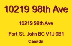 10219 98th Ave 10219 98TH V1J 0B1