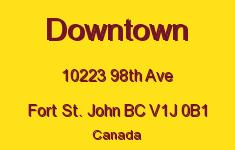 Downtown 10223 98TH V1J 0B1