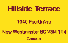 Hillside Terrace 1040 FOURTH V3M 1T4