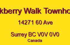 Blackberry Walk Townhomes 14271 60 V0V 0V0