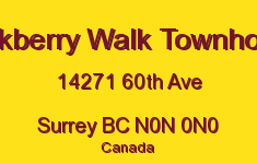 Blackberry Walk Townhomes 14271 60TH N0N 0N0