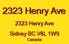 2323 Henry Ave 2323 Henry V8L 1W9