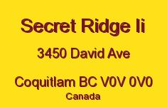 Secret Ridge Ii 3450 DAVID V0V 0V0
