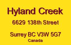 Hyland Creek 6629 138TH V3W 5G7