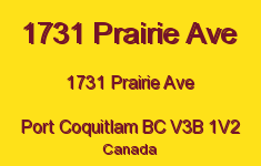 1731 Prairie Ave 1731 PRAIRIE V3B 1V2