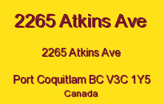 2265 Atkins Ave 2265 ATKINS V3C 1Y5