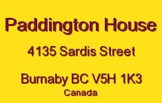 Paddington House 4135 SARDIS V5H 1K3