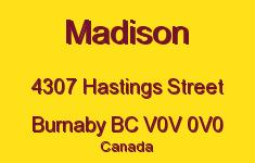 Madison 4307 HASTINGS V0V 0V0