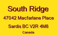 South Ridge 47042 MACFARLANE V2R 4M8