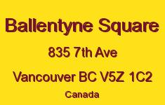 Ballentyne Square 835 7TH V5Z 1C2