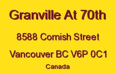 Granville At 70th 8588 CORNISH V6P 0C1
