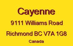 Cayenne 9111 WILLIAMS V7A 1G8