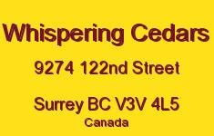 Whispering Cedars 9274 122ND V3V 4L5