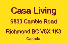 Casa Living 9833 CAMBIE V6X 1K3