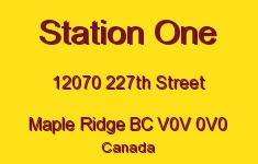 Station One 12070 227TH V0V 0V0
