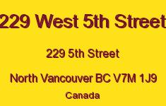 229 West 5th Street 229 5TH V7M 1J9