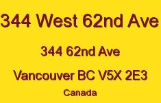344 West 62nd Ave 344 62ND V5X 2E3