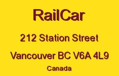 RailCar 212 STATION V6A 4L9