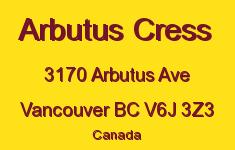Arbutus Cress 3170 Arbutus V6J 3Z3