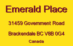 Emerald Place 31459 GOVERNMENT V8B 0G4