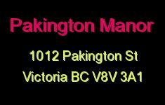 Pakington Manor 1012 Pakington V8V 3A1