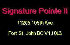 Signature Pointe Ii 11205 105TH V1J 0L3