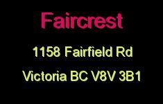 Faircrest 1158 Fairfield V8V 3B1