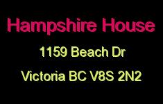 Hampshire House 1159 Beach V8S 2N2