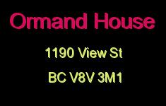 Ormand House 1190 View V8V 3M1
