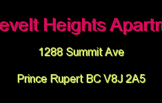 Roosevelt Heights Apartments 1288 SUMMIT V8J 2A5