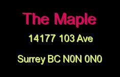 The Maple 14177 103 N0N 0N0