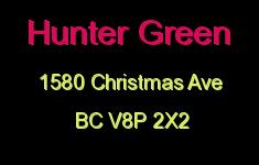 Hunter Green 1580 Christmas V8P 2X2