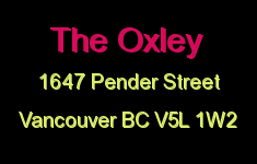 The Oxley 1647 PENDER V5L 1W2