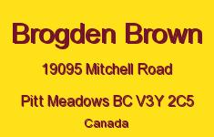 Brogden Brown 19095 MITCHELL V3Y 2C5
